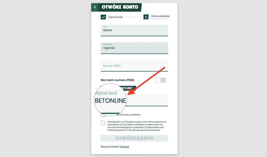 Betfan kod promocyjny